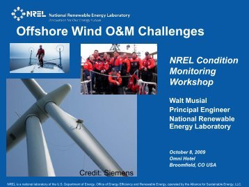 Offshore Wind O&M Challenges - NREL