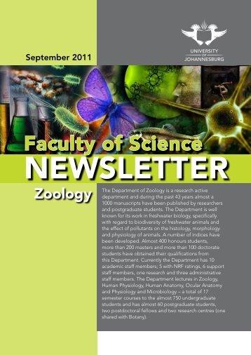 Faculty Of Science NEWSLETTER - University of Johannesburg