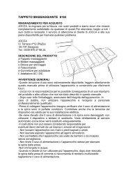 TAPPETO MASSAGGIANTE 6163