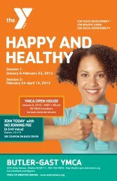 HAPPY AND HEALTHY - Butler Gast YMCA