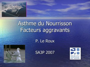 Asthme du Nourrisson Facteurs aggravants