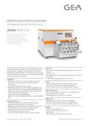 GEA Niro Soavi Ariete NS5132 Tech Sheets ENG Rev05 2012