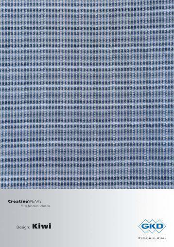 Design: Kiwi CreativeWEAVE - E. Pfister & Cie AG