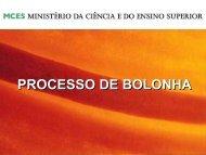 Processo de Bolonha - Fenprof