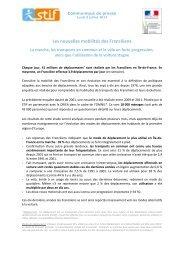 Les nouvelles mobilités des Franciliens - STIF