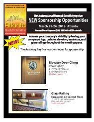 NEW Sponsorship Opportunities