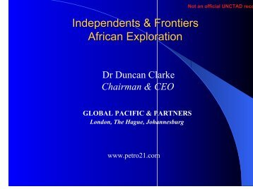 AFRICAN EXPLORATION - Unctad XI