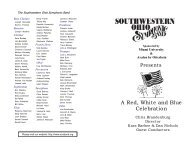 A Red, White and Blue Celebration - sosband.org