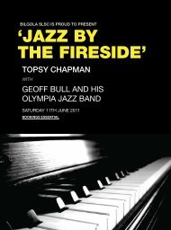 'JAZZ BY THE FIRESIDE'