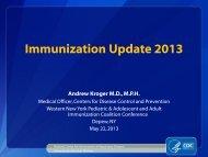 2013 Immunization Update