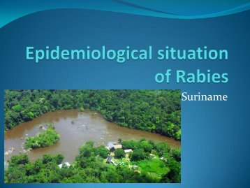Epidemiological situation of Rabies - Caribvet