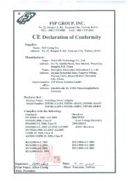 CE Conformity Declaration GEV225 AC DC Power Supply