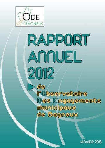 Rapport de l ODE 2012 - Bagneux