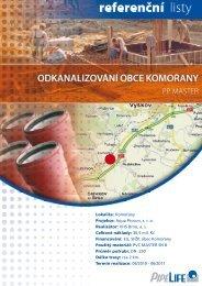 Odkanalizování obce Komořany - Pipelife Czech, s.r.o.