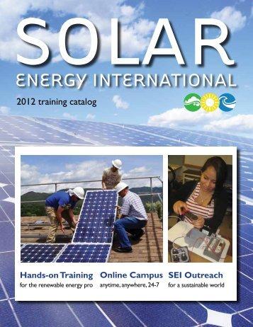 SEI Outreach - Solar Energy International