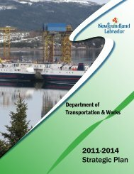 Department of Transportation and Works Strategic Plan 2011-14