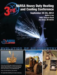 NARSA Heavy Duty Heating and Cooling Conference