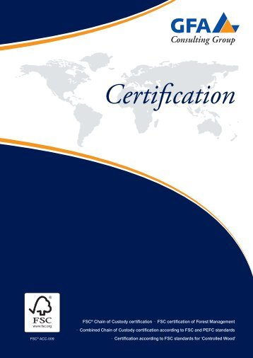 Certification - GFA Consulting Group