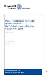 Diagnoseförderklasse (DFK) oder ... - Universität Rostock