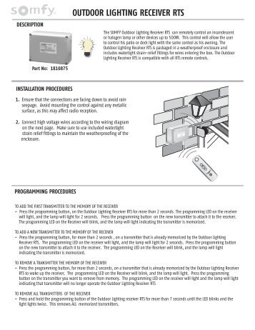 somfy wiring diagram lutron ma wiring diagram wiring diagramssomfy rts motor programming instructions outdoor lighting receiver rts somfy ac motor field wiring diagram