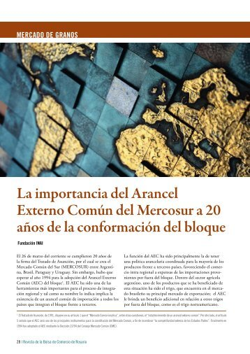 La importancia del Arancel Externo Común del Mercosur a 20 ... - INAI