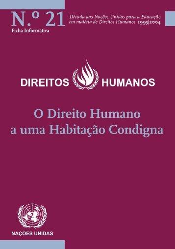 O Direito Humano a uma Habitação Condigna - Direitos Humanos