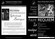 Fauré: REQUIEM - Somerset Chamber Choir