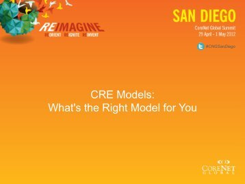 CRE Models - CoreNet Global