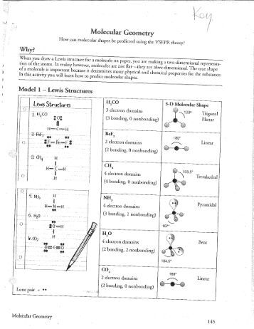 Printables Geometry Worksheets With Answer Key molecular geometry worksheet answer key intrepidpath chapter 9 lmas with key