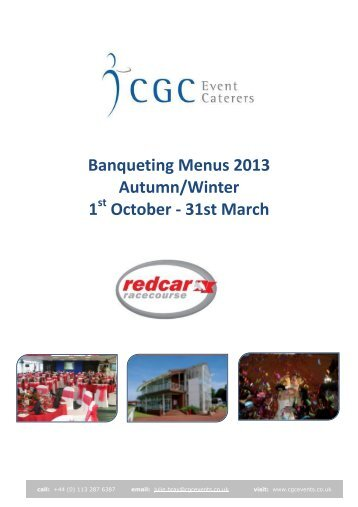 Banqueting Menus 2013 Autumn/Winter 1 October - Redcar ...
