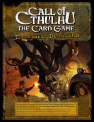 Call of Cthulhu: The Card Game Tournament Rules
