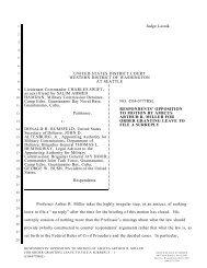 Judge Lasnik UNITED STATES DISTRICT COURT WESTERN ...