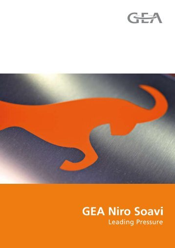 General Brochure GEA Niro Soavi - GEA Process Engineering ...