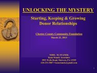 Donors - Chester County Community Foundation