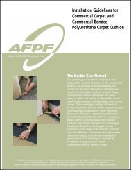 Installation Guidelines for Commercial Carpet and - Alliance for ...