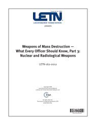 Weapons of Mass Destruction — What Every Officer Should Know ...