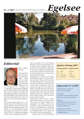 Egelsee-Zeitung 2007