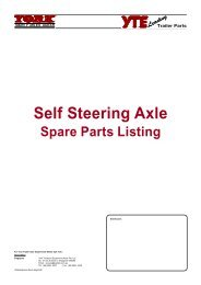 Self Steering Axle - York Transport Equipment