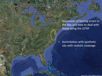Chesapeake Bay Data Assimilation - Weather-Chaos Group
