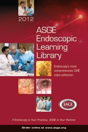 ASGE Endoscopic Learning Library - American Society for ...