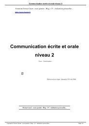 Communication écrite et orale niveau 2 - Florian Casset - cours ...