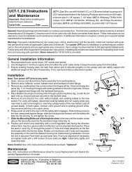 UCT-1, 2 & 3 Instructions and Maintenance - Hubbell Outdoor Lighting