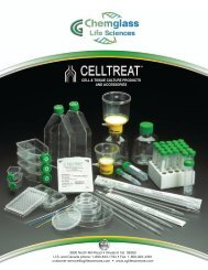 Cell & tissue culture products and accessories - Chemglass Life ...