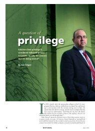 A Question Of Privilege