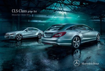 Cls-Class price list - Inchcape Mercedes-Benz UK