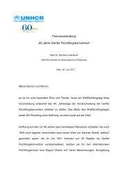20/06/11 Dr. Michael Lindenbauer, UNHCR-Vertreter