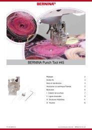 Instruction kit pied et aiguilles Punch - Bernina