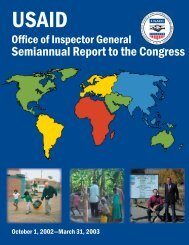 Semiannual Report to the Congress - US Agency For International ...