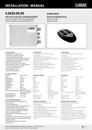 InstallatIon · Manual 5.0635.09.50 1/4 - Wibre