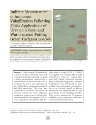 Indirect Measurement of Ammonia Volatilization Following Foliar ...